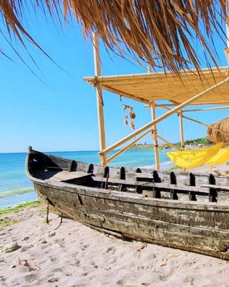 Plaja Cochilia - Tuzla coperta