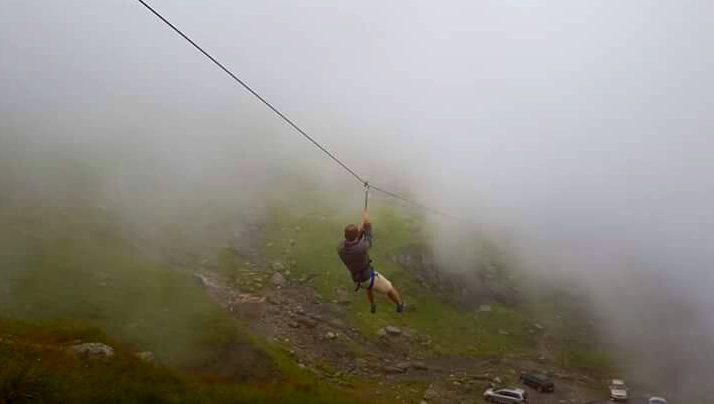 Tiroliană pe Transfăgărășan