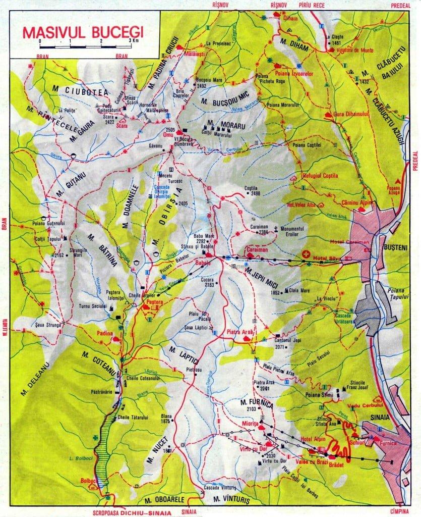 Harta Trasee Varful Omu